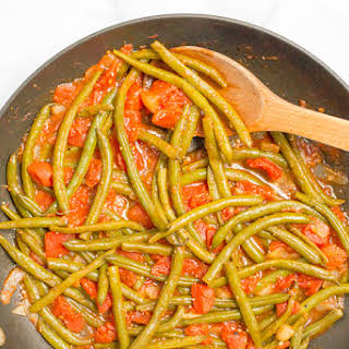 Sautéed Green Beans And Tomatoes.