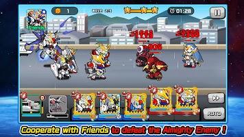 screenshot of LINE: GUNDAM WARS