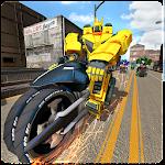 Scifi Bike Racing Robots Icon