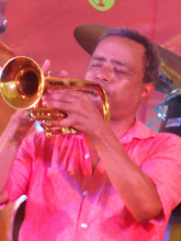 Photo: John Boutte rarely plays the cornet, but he plays well.