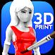 ColorMinis Printables: 3D Color Anime Figure Shop