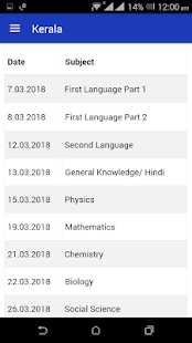 Download 10th Time Table 2018 Date Sheet SSLC Results 2018 for Windows Phone apk screenshot 5