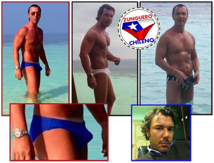 calzoncillos hombre en erección en la playa