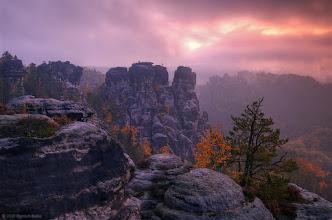 "Photo: Taken in october 2008. National park ""Saxony Switzerland"", Germany"