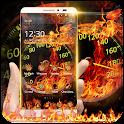 Fire Car Speedometer Theme icon