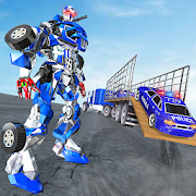 US Police Robot Transport Truck Driving Games