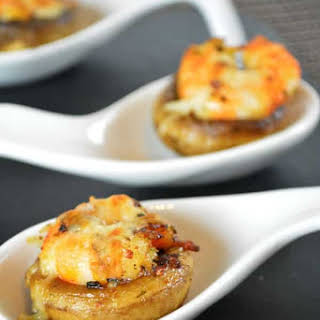 Mushrooms Stuffed with Shrimps.