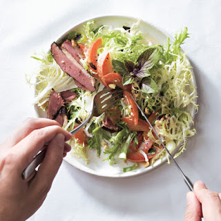 Smoked Duck and Pluot Salad.