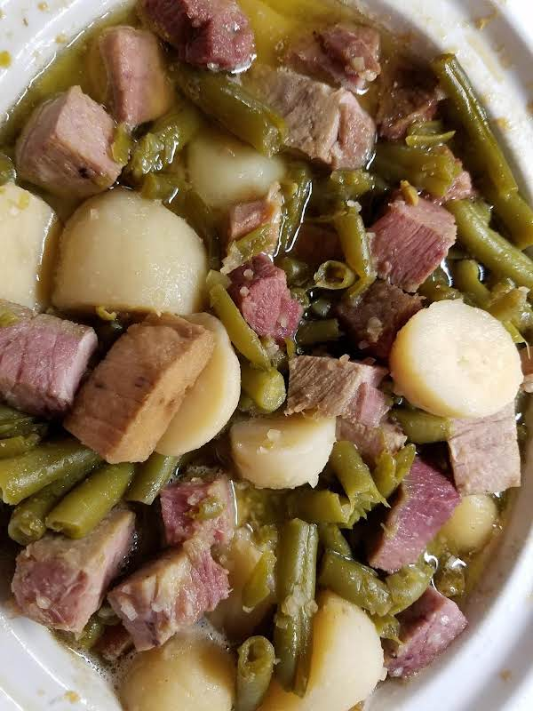 Amazing Ham, Green Beans And New Potatoes Recipe