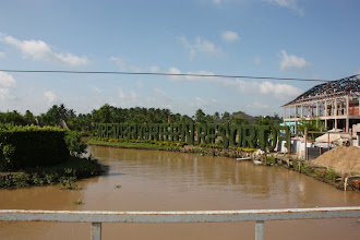 Photo: Year 2 Day 30 -  A Resort Being Constructed on this Dirt Track in the Mekong Delta