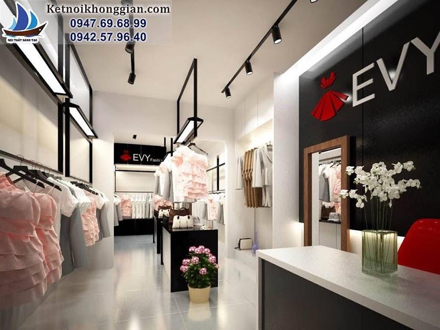 thiết kế shop thời trang công sở trẻ trung