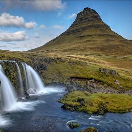 Kirkjufell by Jen St. Louis - Landscapes Travel ( snaefellsnes, mountain, waterscape, waterfall, kirkjufell, iceland, landscape )
