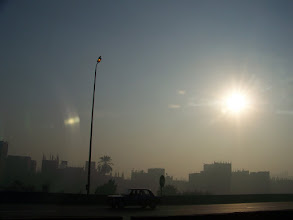Photo: A good (manipulative) friend of mine asked for a photo of the Egyptian sun.  Here it is.