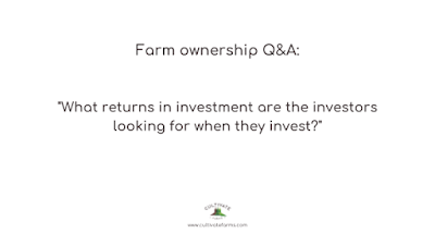 What returns in investment are the investors looking for when they invest?