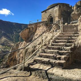 Vardzia Cave by Leyon Albeza - Instagram & Mobile iPhone ( travel photography, monastery, georgia, ruins, tourism, travel, architecture,  )