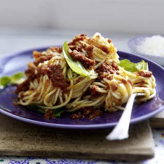 Spaghetti with Tomato Pesto.