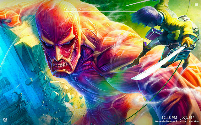 Attack on Titan HD Wallpapers New Tab Theme