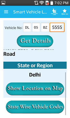 Indian vehicle LocationTracker - screenshot