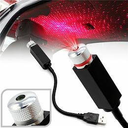Lampa cu laser proiectie stelute USB, Car Ceiling USB Star