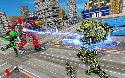 Flying Car Robot Transformation Game Screenshot
