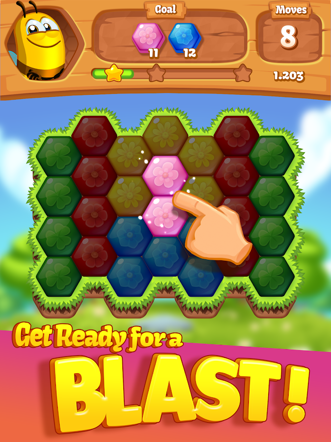 Bee Brilliant Blast- screenshot