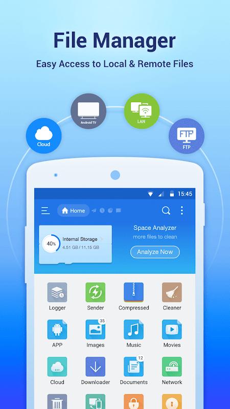 ES File Explorer File Manager screenshots