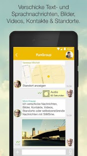 SIMSme – der sichere Messenger Screenshot