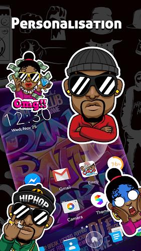 Download CoCo Launcher - Black Emoji, 3D Theme APK latest