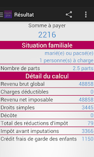Calcul Impots 2016 Android Apps On Google Play