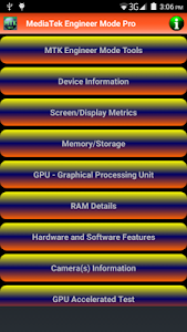 MediaTek Engineer Mode Pro screenshot 5