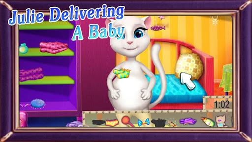 Julie delivering a baby