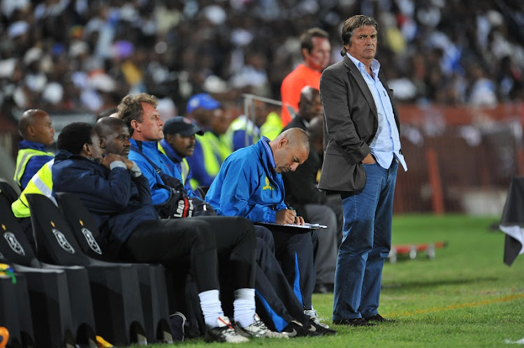 Henri Michel during the Absa Premiership match between Orlando Pirates and Mamelodi Sundowns from Coca-Cola Park in Johannesburg, South Africa.