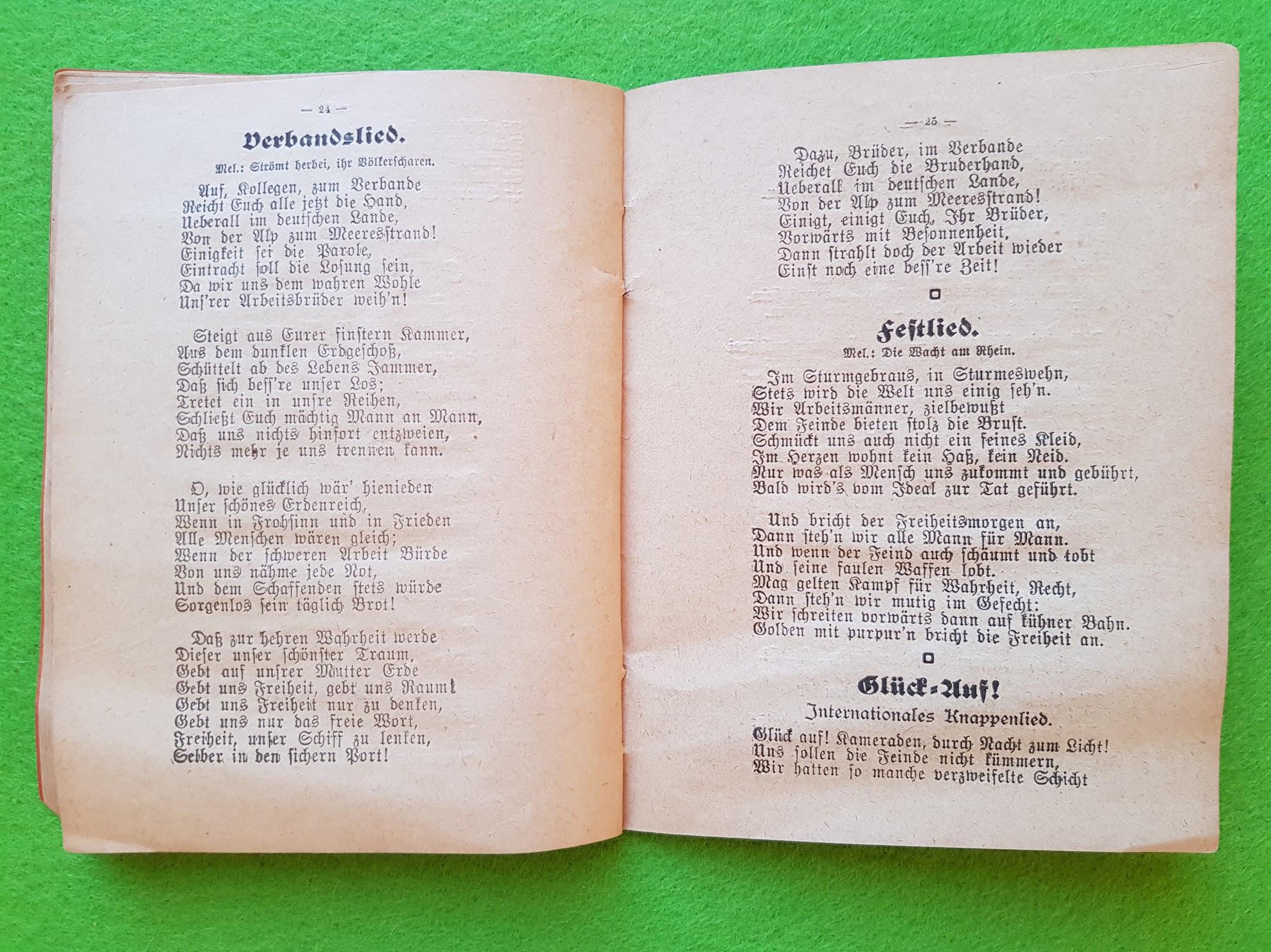 Arbeiter Liederbuch für Massengesang, 1910