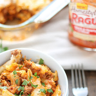 Baked Mostaccioli With Meat Sauce Recipes.