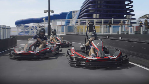 norwegian-bliss-Go-Karts.jpg - The thrill of electric go-cart racing at sea comes to Norwegian Bliss.