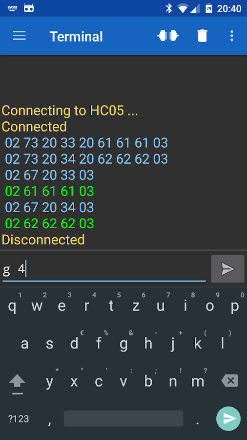 Serial Bluetooth Terminal- screenshot