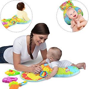 Perna activitati bebe, albastra, 3 jucarii zornaitoare incluse