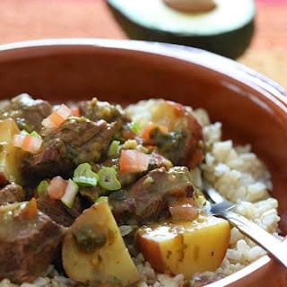 Crock Pot Carne Guisada (Latin Beef Stew).