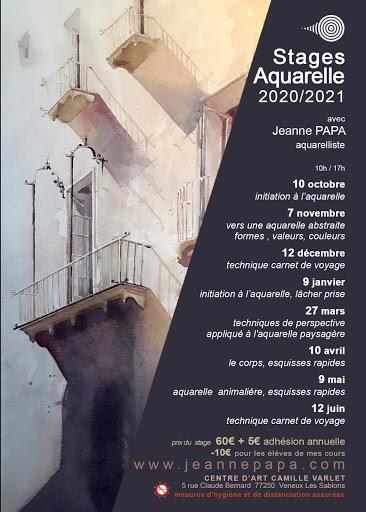 stages aquarelle, carnet de voyage, JEANNE PAPA seine et marne_fontainebleau_moret_MLO_77