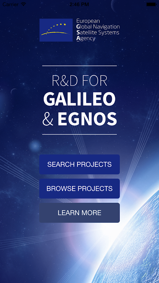 R&D for Galileo and EGNOS – Capture d'écran