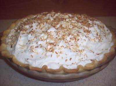 This Is The Basic Cream Pie, This One Just Happens To Be Coconut.