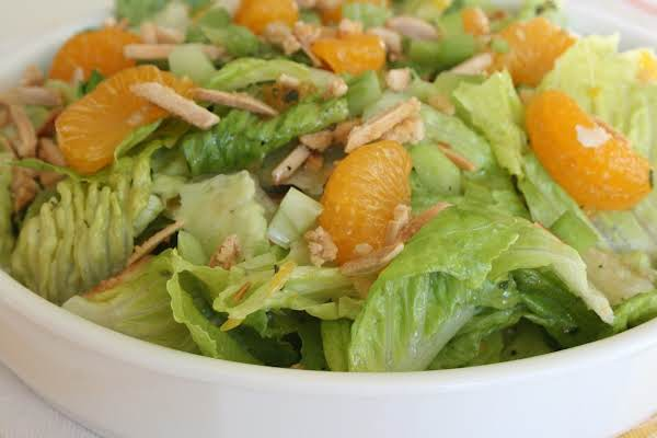 Orange Almond Salad Ready To Eat!! Enjoy