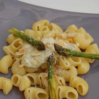 Pasta with Almond Truffle Sauce.