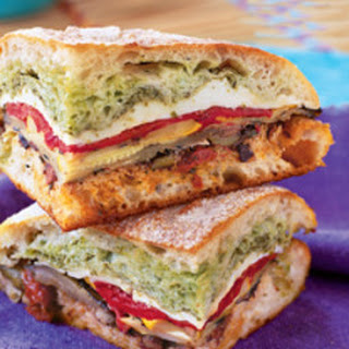 Mediterranean Pressed Picnic Sandwich.