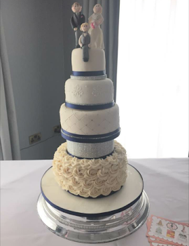4 tiered Bling wedding cake