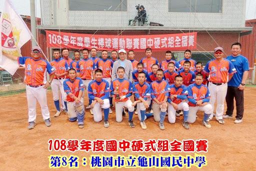108棒球聯賽硬式第八名