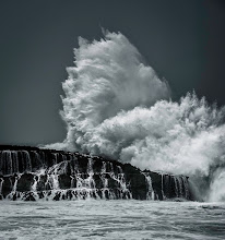Photo: A mighty wave explodes out of the sea in Oahu, Hawaii.