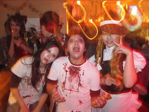 Photo: Zombies Celebrating Halloween at Ola Tacos Bar, in Shinsaibashi, Osaka  Taken at Ola Tacos Bar (http://homepage2.nifty.com/olatacos/) Taken by Be & Me (http://www2.gol.com/users/be-n-me/)