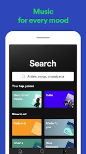 Spotify: Listen to new music and play podcasts Screenshot
