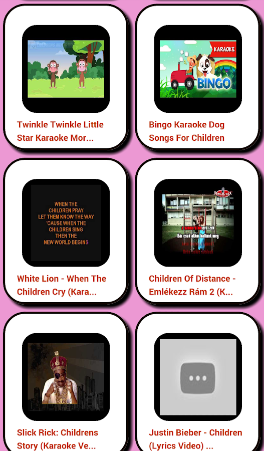 Children Karaoke:- screenshot